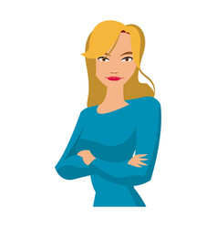 portrait young woman gesturing style vector image