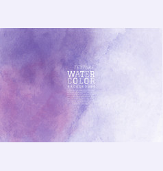 Purple liquid stain watercolor background vector