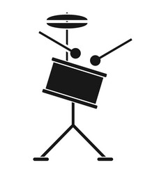rock drums icon simple style vector image
