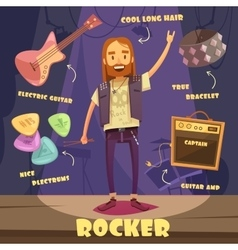 Rocker character pack for man vector