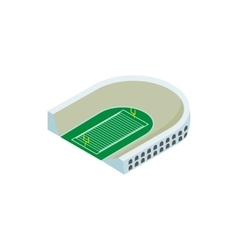 Rugby stadium isometric 3d icon vector