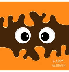Scary eyes Happy Halloween vector
