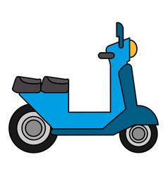 Scooter vespa transport vehicle image vector