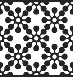 seamles pattern of round flowers vector image