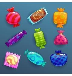 Set of bright cartoon candies vector