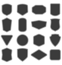 set of vitage label and badges shape collections vector image