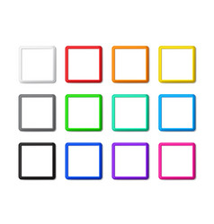 set square frames with shadows vector image