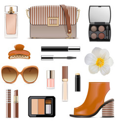 spring female accessories set 2 vector image