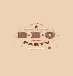 stock template of bbq party invitation vector image