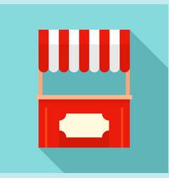 street xmas kiosk icon flat style vector image
