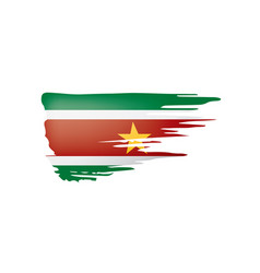 suriname flag on a white vector image