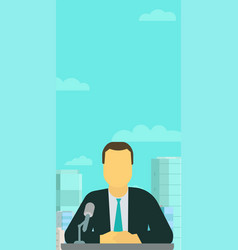 vertical banner broadcaster anchorman tv vector image
