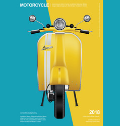 Vintage motorcycle isolated vector