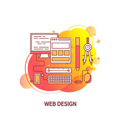 web design tools and instruments for creativity vector image