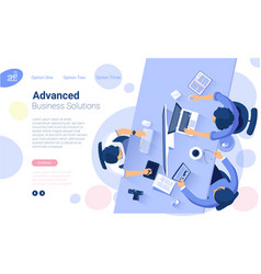 Web page design template vector