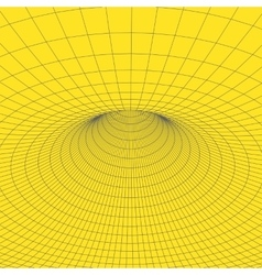 Wireframe torus with connected lines and dots vector image