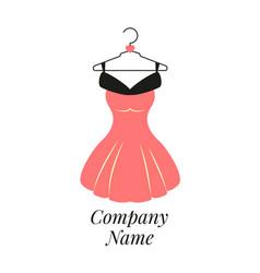 Women fashion logo design template dress emblem vector