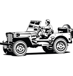 World war two army all road vehicle vector image