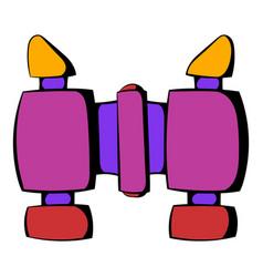 binoculars icon icon cartoon vector image