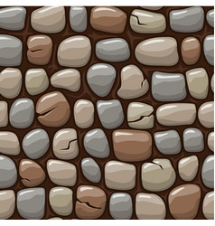 Colored old stone texture cartoon seamless vector