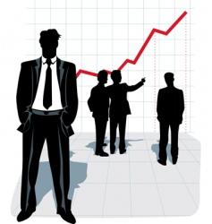 illustration of businessman silhouette vector image