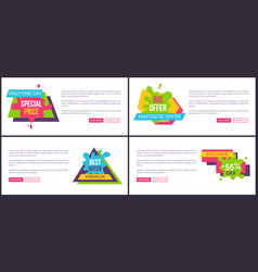 only today special price set vector image