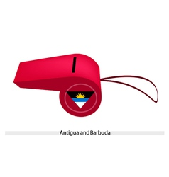 A Red Whistle of Antigua and Barbuda vector image vector image