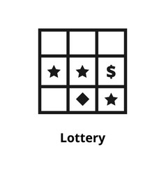 lottery line icon vector image