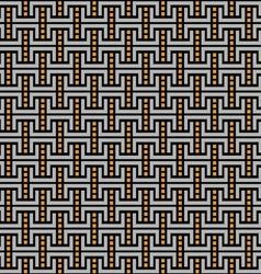Dark geometric maze seamless pattern vector image vector image