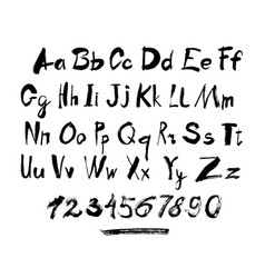 alphabet letters lowercase uppercase and numbers vector image vector image