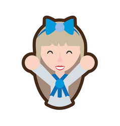 cartoon japanese girl student uniform vector image