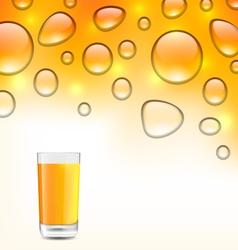 Clean Water Droplets with Orange Juice vector image vector image