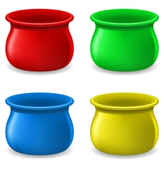 Empty color Pots vector image vector image