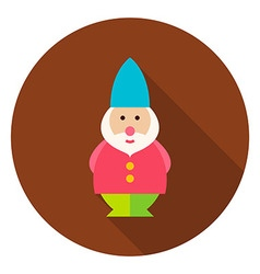 Garden Gnome Circle Icon vector image