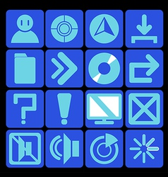 icon technology blue vector image vector image