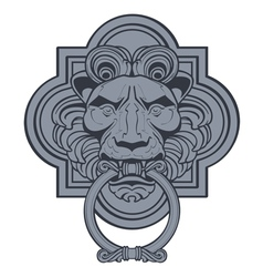 lion head door knocker vector image vector image