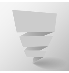 Origami banner vector image vector image