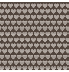 Seamless pattern of striped hearts vector image vector image