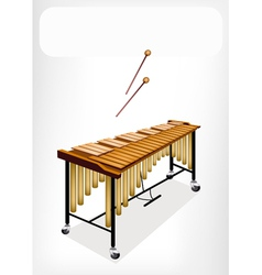 Two Retro Vibraphone with A White Banner vector image vector image