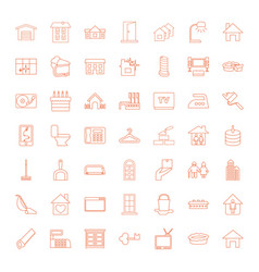 49 home icons vector image