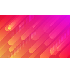 Abstract fluid red orange pattern background vector