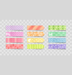 adhesive paper stickers with childish print vector image