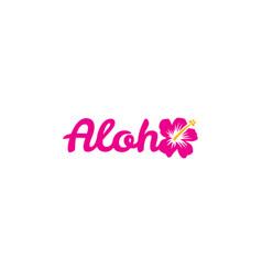 Aloha hawaiian greeting vector