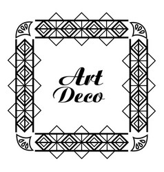 Art deco frame royal decorative geometric vector