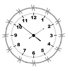 barbed wire clock vector image
