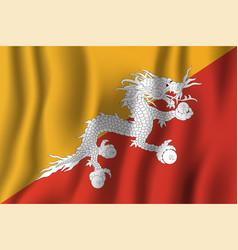 bhutan realistic waving flag national country vector image