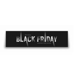 black friday sale 3d banner modern split vector image