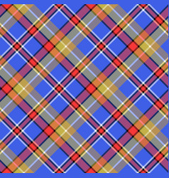 blue madras diagonal plaid pixeled seamless vector image