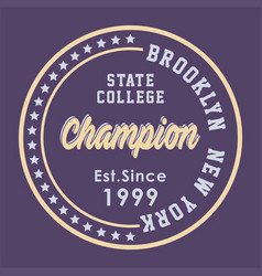 brooklyn state college vector image