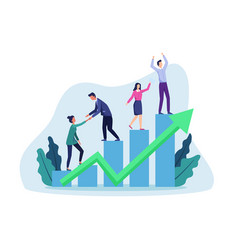 Business growth vector